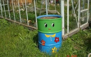 Для полива овощей на огороде из полной 200 литровой