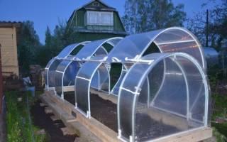 Теплицы из поликарбоната со сдвижной крышей