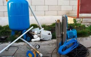 Разводка воды от скважины в дом и на полив