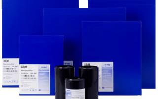 Пленка двустороннего полива на окрашенной в голубой цвет полиэфирной основе
