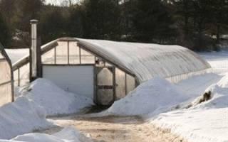 Конструкция теплицы для зимнего выращивания