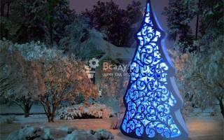Необычная елка на фестивале сад чудес