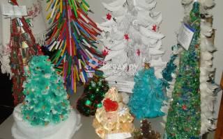 Дизайнерские елки участников конкурса авторская елка