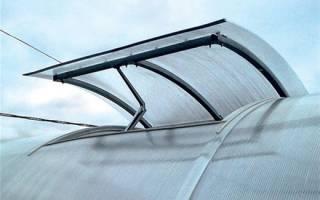 Система проветривания в поликарбонатной теплице